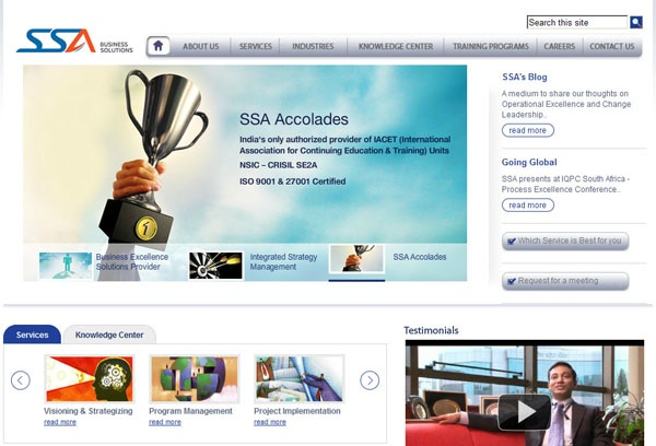 SSA Solutions Consumer Experience Design