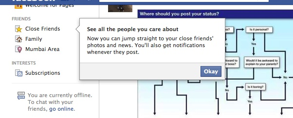 Jump to Close Friends on Facebook