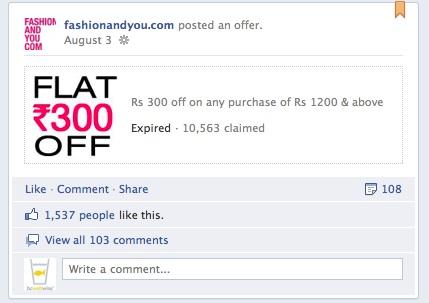 Fashionandyou.com Facebook Offers